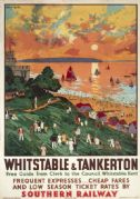 Whitstable & Tankerton, Kent. Vintage SR Travel poster by Cecil King. 1936